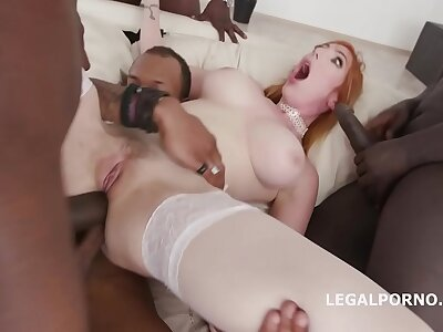 Interracial fuck slut Lauren Phillips takes atop four bbc for stuff and nonsense abyss dap
