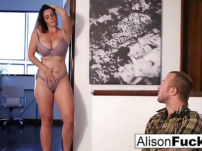 Alison Tyler drains Chad's cock fro her brashness