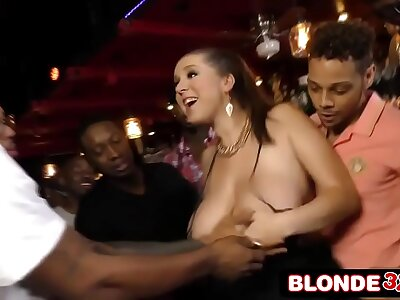 Busty Bar Young lady Ass-Banged By a Disgraceful Gang (Alex Chance)