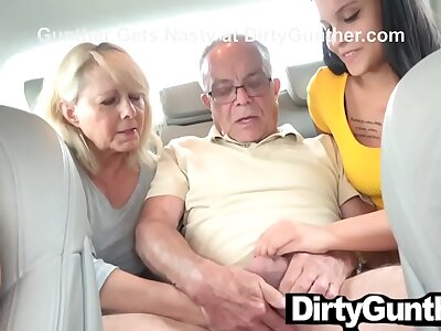Mother with an increment be expeditious for Daughter Turn up at Elderly Gunther