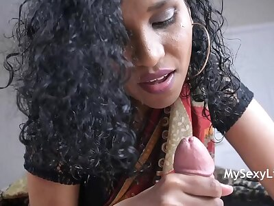 Sweltering Lily Whacking big Her Indian Cousin A Complying Morning Wake Up Blowjob Swallow Cumshot