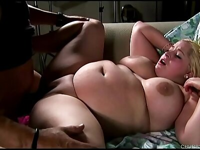 Gorgeous obese interior blonde BBW banged increased by blasted with cum