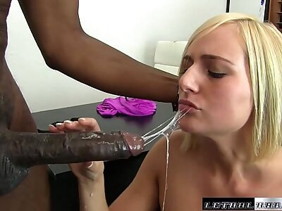 Black Cocks Matter - Teen Kate England rides say no to crafty BBC and cums